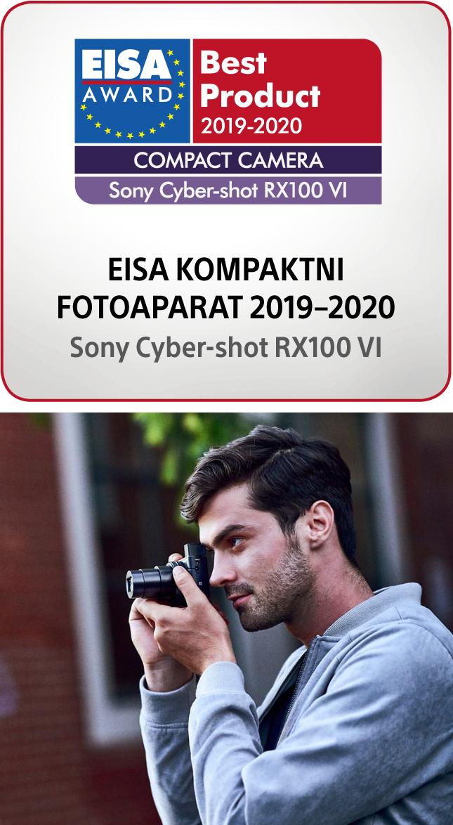 Nagrada za najboljši kompaktni fotoaparat Sony DSC-RX100m6