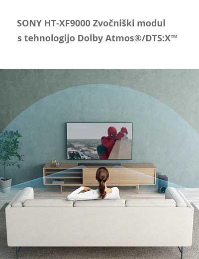 2.1-kanalni zvočniški modul s tehnologijama Dolby Atmos®/DTS:X™ in Bluetooth®